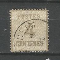 Norddeutscher Postbezik, Ziffern Auf Netzunterdruck, Nr. 3 II Gestempelt - Norddeutscher Postbezirk