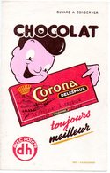 Vloeipapier Buvard Chocolat Chocolade Corona Form. 21x13.5cm Reclame - Chocolat