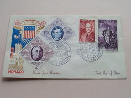 1956 F.I.R.E.X. 1956 : 3-4-356 Monaco ( Zie/voir Foto's Voor/pour Détails ) ! - FDC