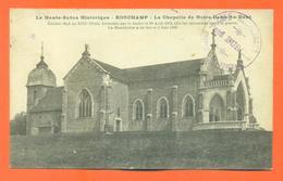 """CPA 70 Ronchamp """" La Chapelle De Notre Dame Du Haut """" Tampon Café Restaurant - France"""