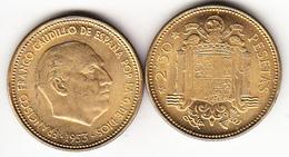 ESPAÑA 1953 ESTRELLA 19-56 . 2,50 PESETAS NUEVA SIN CIRCULAR.BRILLO ORIGINAL .CN4324 - [ 5] 1949-… : Royaume