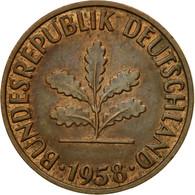 Monnaie, République Fédérale Allemande, 2 Pfennig, 1958, Stuttgart, TTB - [ 7] 1949-… : FRG - Fed. Rep. Germany