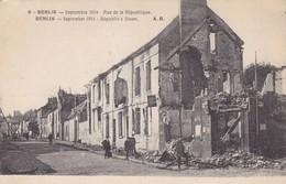 60  SENLIS. GUERRE 14-18 .RUE DE LA RÉPUBLIQUE+ TEXTE - War 1914-18