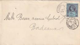 Grande Bretagne N°  95 Sur Lettre  Départ Londres Pour Bordeaux - 1840-1901 (Victoria)