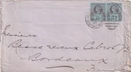 Grande Bretagne N°  95 Sur Lettre En Paire - 1840-1901 (Victoria)