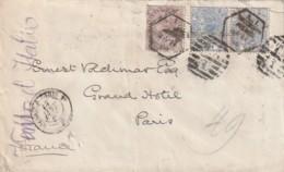 Grande Bretagne N°  57 En Paire Et 73 Bel Affranchissement - 1840-1901 (Victoria)