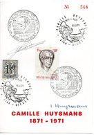 Camille Huysmans 1871 1971 Politieker Politician  Minister Van Staat  Maxi Kaart Carte - Timbres