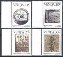 Venda  Yv  138/41, (138 Pli Non Compté) Histoire De L'écriture  ** Mnh - Venda