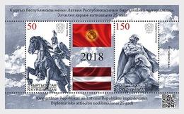 Kirgizië / Kyrgyzstan - Postfris / MNH - Sheet Joint-Issue Letland 2018 - Kirgizië