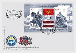 Kirgizië / Kyrgyzstan - Postfris / MNH - FDC Sheet Joint-Issue Letland 2018 - Kirgizië