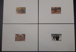 COTE D'IVOIRE IVORY COAST 1999 - DELUXE PROOF EPREUVE - ANIMALS APES MONKEYS SINGES ELEPHANTS PHILEXAFRIQUE CHIMPANZE - Chimpanzés