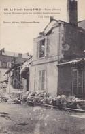 51  REIMS. GUERRE 14-18 .LA RUE  HINEMAR APRES LES TERRIBLES BOMBARDEMENTS. - War 1914-18