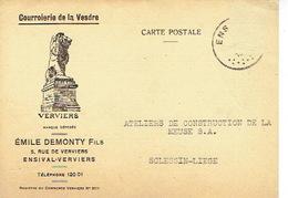 CP Publicitaire ENSIVAL 1941 - COURROIERIE DE LA VESDRE - Emile DEMONTY Fils - Edingen