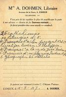 CP Publicitaire ESNEUX 1947 - Melle A. DOHMEN - Libraire - Esneux
