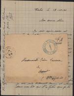 Guerre 40 Période Libération Cachet Bleu Hôpital Mixte De Tarbes Hautes Pyrénées 65 13 12 44 FM Franchise Militaire - Postmark Collection (Covers)