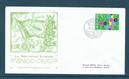 EUROPA - 1960 - LIECHENSTEIN - FDC Gravé Par DECARIS - Oblitération Du 19/9/1960 - Numéroté - Liechtenstein
