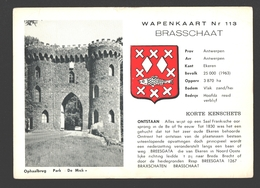 Brasschaat - Wapenkaart - Ophaalbrug Park De Mick - Informatieve Kaart - Brasschaat