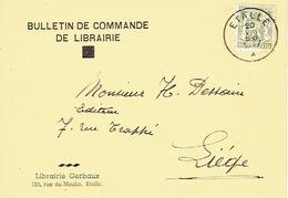 CP Publicitaire ETALLE 1947 - Librairie GERBAUX - Etalle