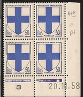 YT1180 **TTB -20/10/1958-B DE A+B - - Angoli Datati