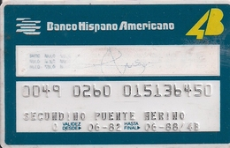 BANCO HISPANO AMERICANO(AÑO 1982) - Geldkarten (Ablauf Min. 10 Jahre)