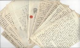 Émile Egger HELLENISTE (1813 - 1885) 14 LAS AUTOGRAPHE ORIGINAL AUTOGRAPH / FREE SHIPPING REGISTERED - Autographes