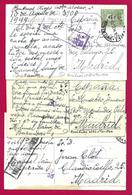 Trois Correspondances Avec Censures Datées De 1944 - Voyagées De Buenos Aires En Argentine Vers Madrid En Espagne - Usati