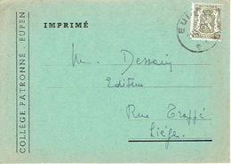 CP Publicitaire EUPEN  1947 - COLLEGE PATRONNE - Abbé VILLERS, Professeur - Eupen