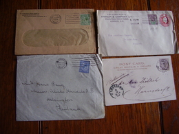 UK. Oltre 125 Corrispondenze Tutte Affrancate Con Perfin. Descrizione. 57 Foto - Grande-Bretagne