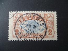 REUNION  N° 57   OBLITERE  ST DENIS  1907 - Réunion (1852-1975)
