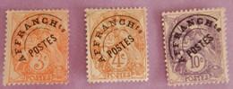 FRANCE PREOS ANNEES1922/1947 YT 39/40/43 NEUFS(*)SANS GOMME+CHARNIERES - Préoblitérés