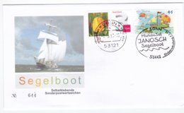 Germany 2013 FDC Janosch Segelboot Selfadhesive Stamp (G96-15) - FDC: Buste