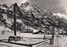 GRESSONEY LA TRINITE-AOSTA-CARTOLINA VERA FOTOGRAFIA-VIAGGIATA IL 9-8-1951 - Aosta