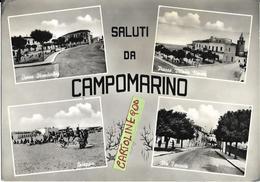 Molise-campobasso-campomarino Vedute Vedutine Saluti Da Campomarino Via Favorita Piazza V.veneto Spiaggia Corso Animata - Italia