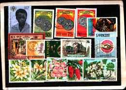 73321)  SAN VINCENT-LOTTO FRANCOBOLLI -USATI - St.Lucia (1979-...)