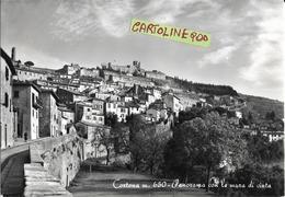 Toscana-arezzo-cortona Veduta Panorama Interno Citta Con Le Mura Di Cinta Anni 50 - Italia