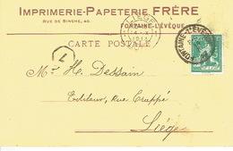 CP Publicitaire FONTAINE L'EVEQUE 1913 - IMPRIMERIE-PAPETERIE FRERE - Fontaine-l'Evêque