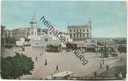 Alger - Mosquee El Djedid Et Palais Consulaire - Gel. 1909 - Alger