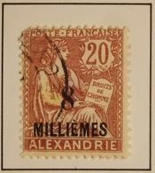 1925 - ALEXANDRIE Y&T 69  Type Mouchon  (ex-colonies Et Protectorats)  Oblitéré - Alexandrie (1899-1931)