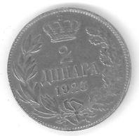 YOUGOSLAVIE - YUGOSLAVIA - 2 DINARS 1925 - Yougoslavie