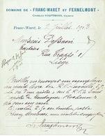 """CP Publicitaire FRANC-WARET 1913 - DOMAINE De """"FRANC-WARET Et FERNELMONT"""" - Charles HAUPTMANN, Régisseur - Fernelmont"""