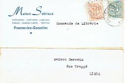 CP Publicitaire FRASNES-LEZ-GOSSELIES 1959 - MAISON SOTTIAUX - Imprimerie- Librairie - Papeterie - Les Bons Villers
