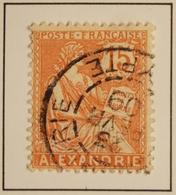 1902 - ALEXANDRIE Y&T 25a  Type Mouchon  (ex-colonies Et Protectorats)  Belle Oblitération - Alexandrie (1899-1931)