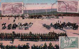 """Empire Ottoman, Revue Militaire De La Fête Nationale, Cachet Rectangulaire """"Abdallah Hasso Mossoul 9 Av 1914"""" (9.4.1914) - Iraq"""