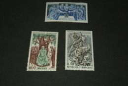 FR144-set MNH  France - 1967 - SC. 1199-1201- Philippe Auguts , Saint-Louis Et Hugues Capet - France