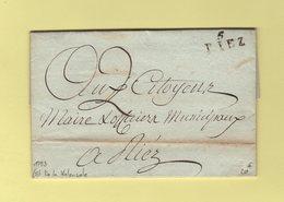 Riez - 5 - Basses Alpes - 1793 - Courrier De La Valensale - Postmark Collection (Covers)