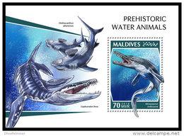 MALDIVES 2018 MNH** Prehistoric Water Animals Wassersaurier S/S - IMPERFORATED - DH1843 - Prehistorics