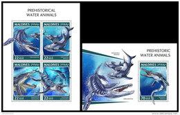 MALDIVES 2018 MNH** Prehistoric Water Animals Wassersaurier M/S+S/S - IMPERFORATED - DH1843 - Prehistorics