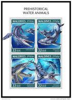 MALDIVES 2018 MNH** Prehistoric Water Animals Wassersaurier M/S - IMPERFORATED - DH1843 - Prehistorics