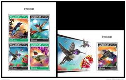 MALDIVES 2018 MNH** Colibri Kolibri M/S+S/S - IMPERFORATED - DH1843 - Hummingbirds