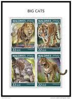 MALDIVES 2018 MNH** Big Cats Großkatzen Raubkatzen Grande Chats M/S - OFFICIAL ISSUE - DH1843 - Raubkatzen